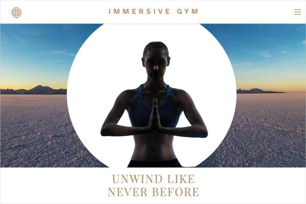 immersive gym web design