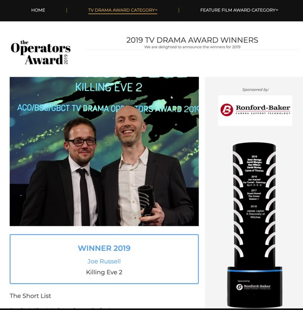 killing even award winner and web design