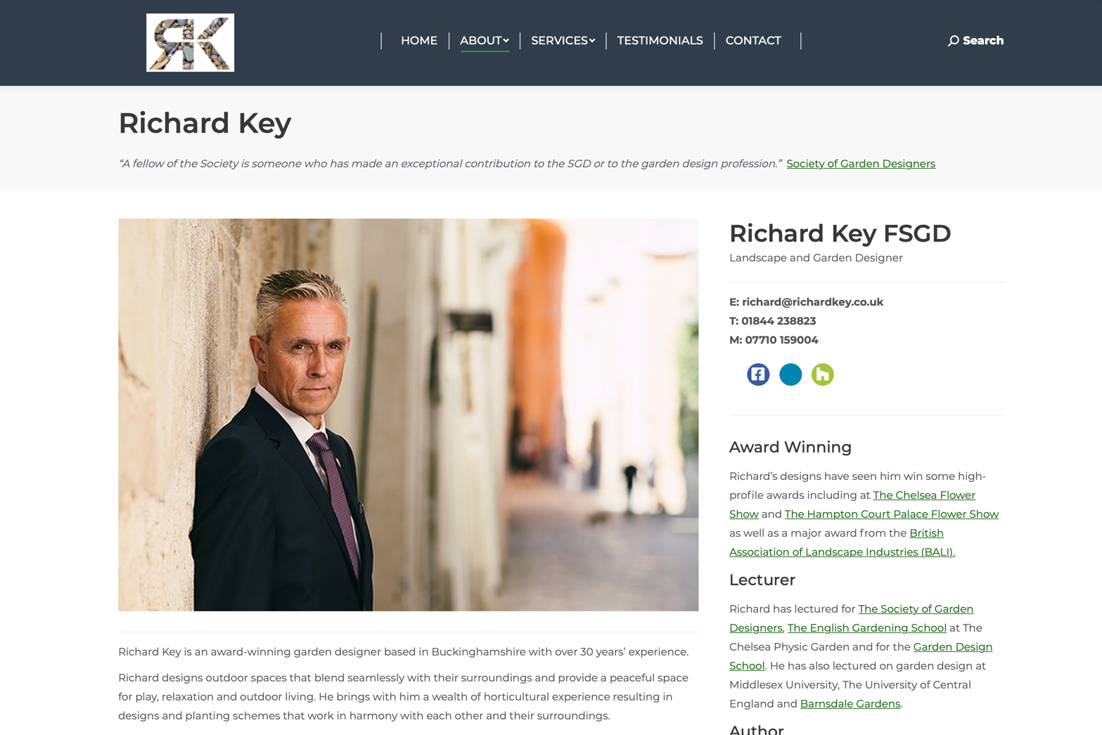 richard key landscape web design uk scotland