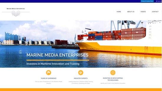marine media enterprises web build